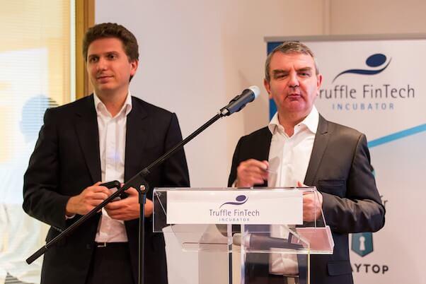 Discours de Marc Le Mouel et Samuel Manassé, présentation de Smile&Pay a Truffle FinTech
