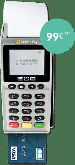 Un véritable terminal de paiement mobile complet, prêt à l'emploi<br>