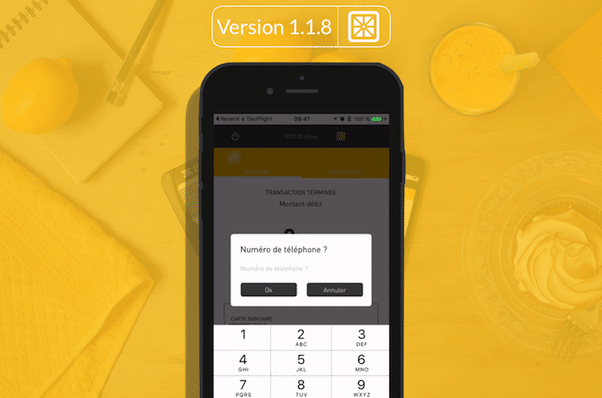 Nouvelle Application Smile&Pay v118