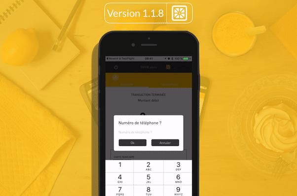 Nouvelle Application Smile&Pay v118