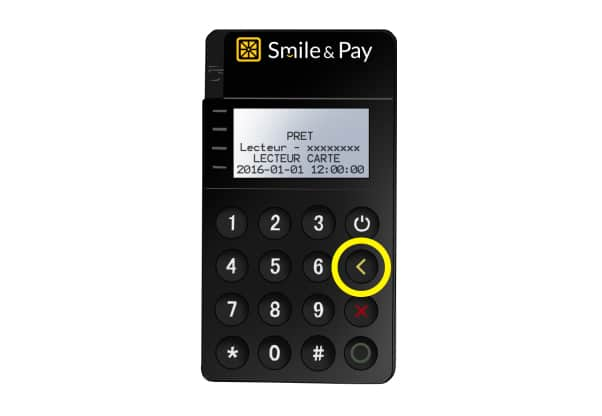 Jumelage Bluetooth Terminal Pocket Smile