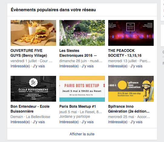 evenement facebook
